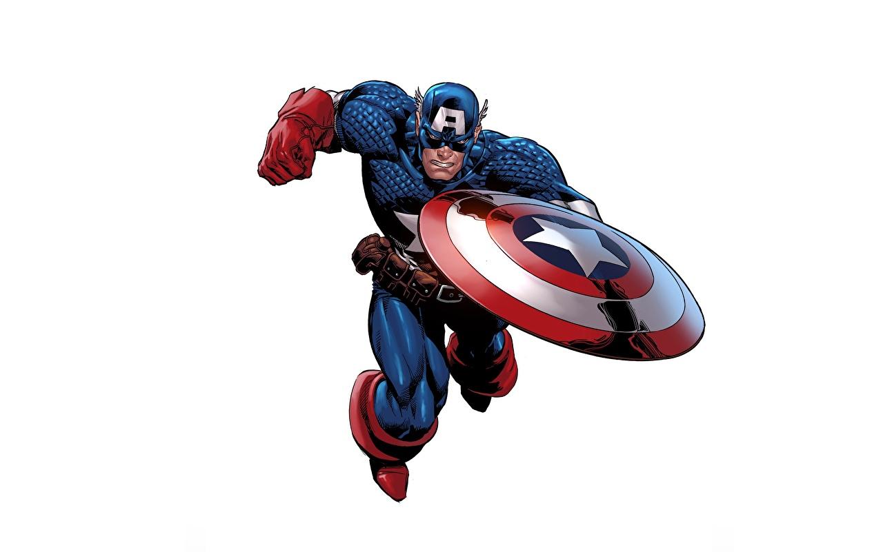 Picture Shield Captain America hero Fantasy White background 1280x801