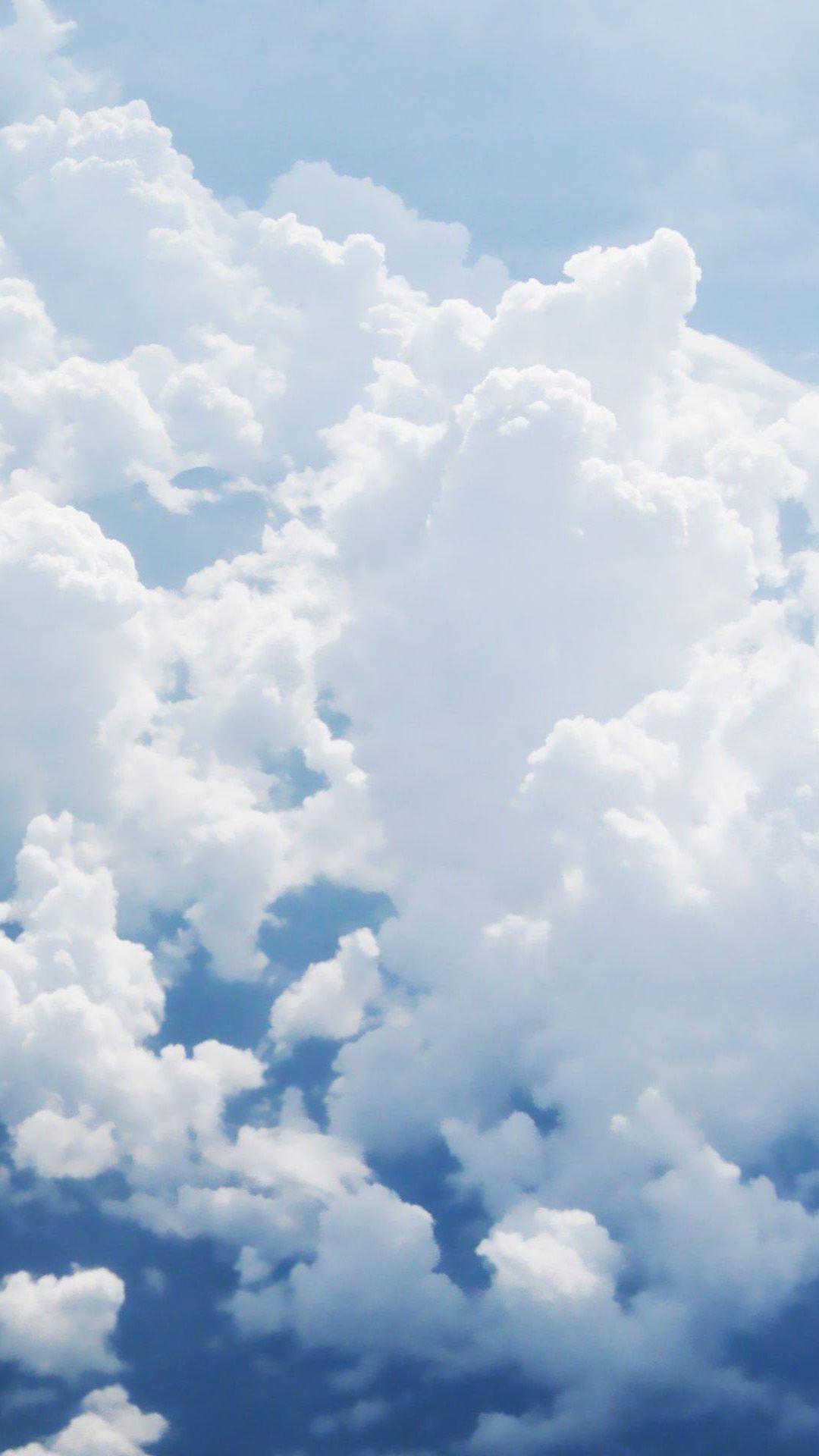Puffy White Clouds iPhone 6 Plus HD Wallpaper iPod Wallpaper HD 1080x1920