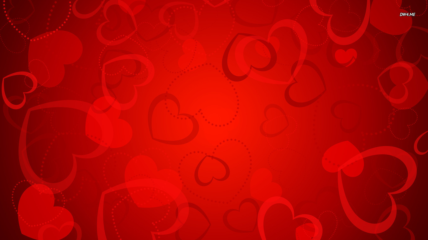 Red Heart Backgrounds 1366x768