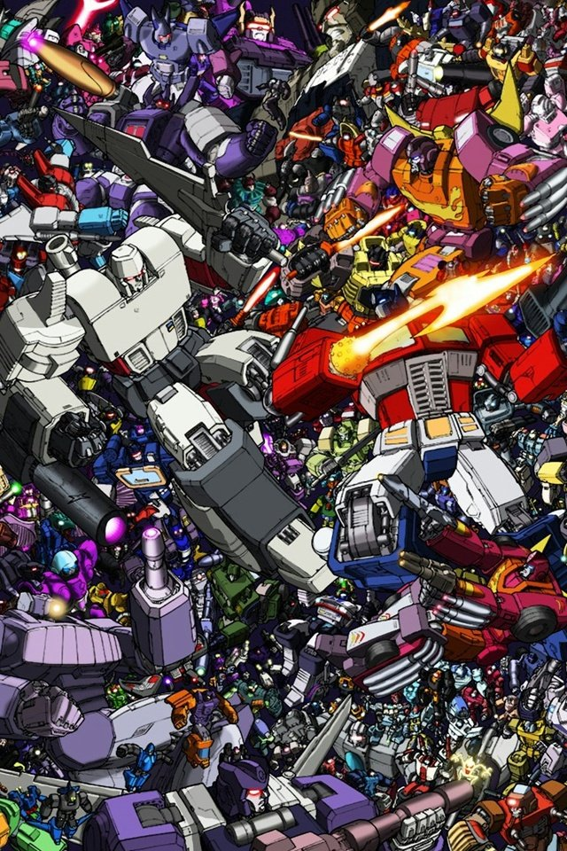 Transformers Collage iPhone 4 Wallpaper and iPhone 4S Wallpaper 640x960