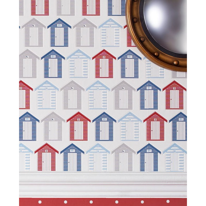 The Seaside Washable Wallpaper Red Blue by Graham Brown 20 272 800x800