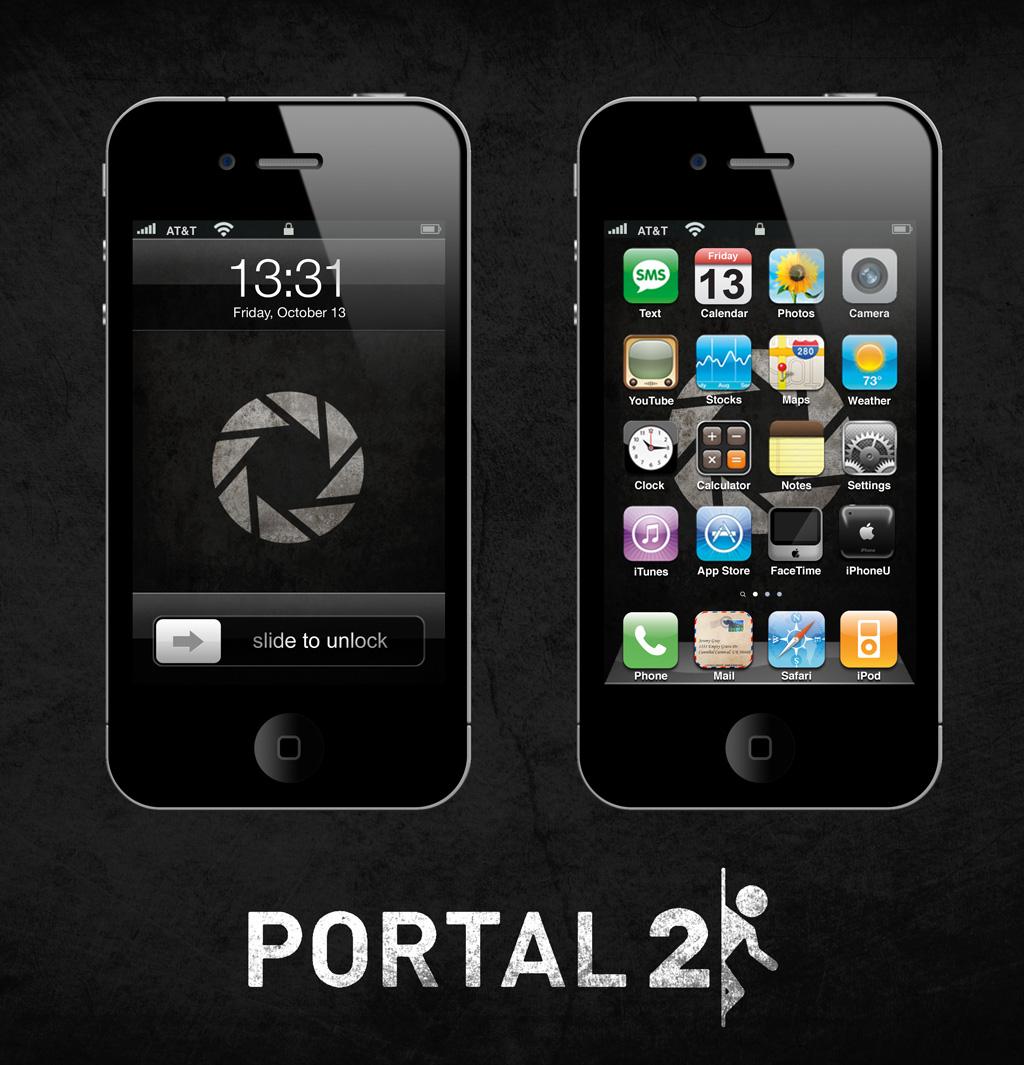 Portal 2 iPhone/iPad Wallpaper Dark by SirPatrick1st on DeviantArt