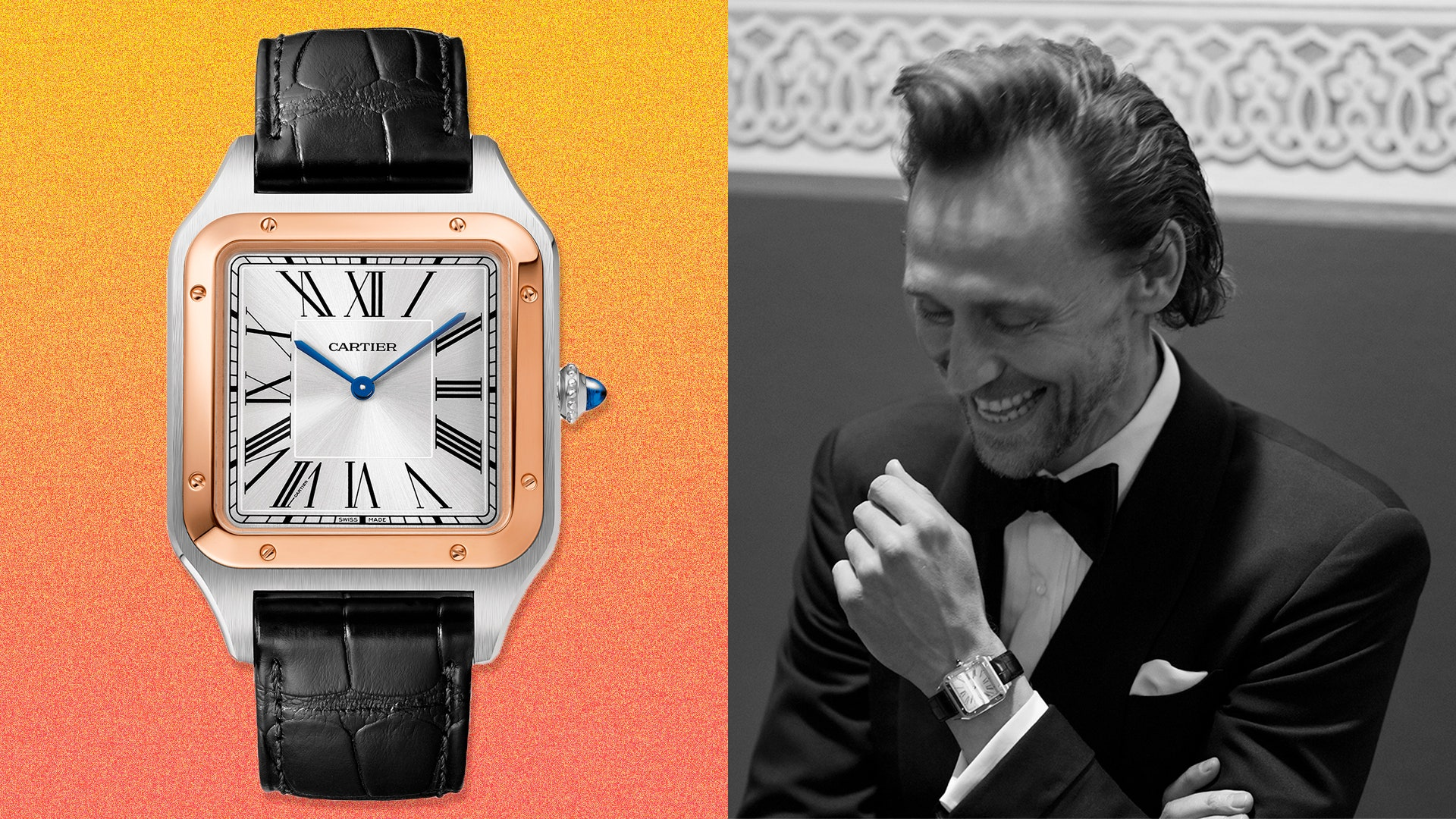 Tom Hiddlestons Cartier Santos Dumont is a lesson in old school 1920x1080