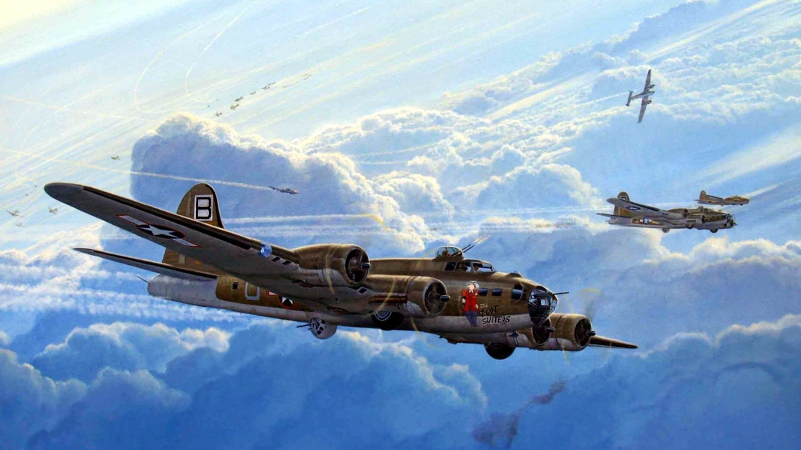Boeing B 17 Flying Fortress Wallpaper and Background Image 1600x900