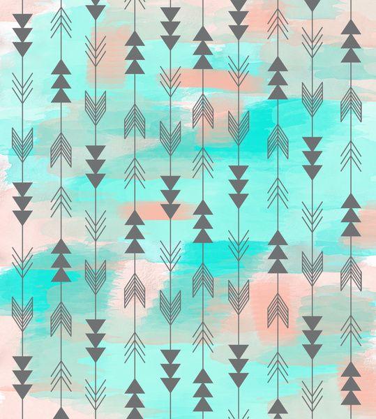 Watercolor Arrows Art Print 539x600