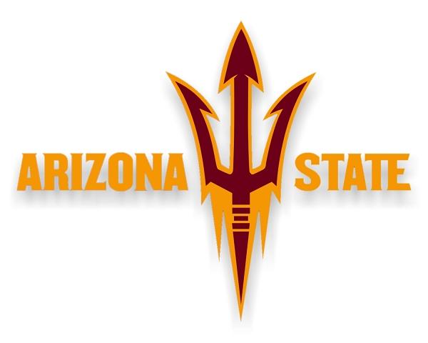 ASU Arizona State Sun Devils Letters Fork Style BVinyl Die Cut 600x480