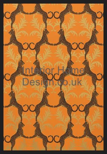thibaut wallpaper jubilee cheetah t4940 orange manufactured by thibaut 350x500