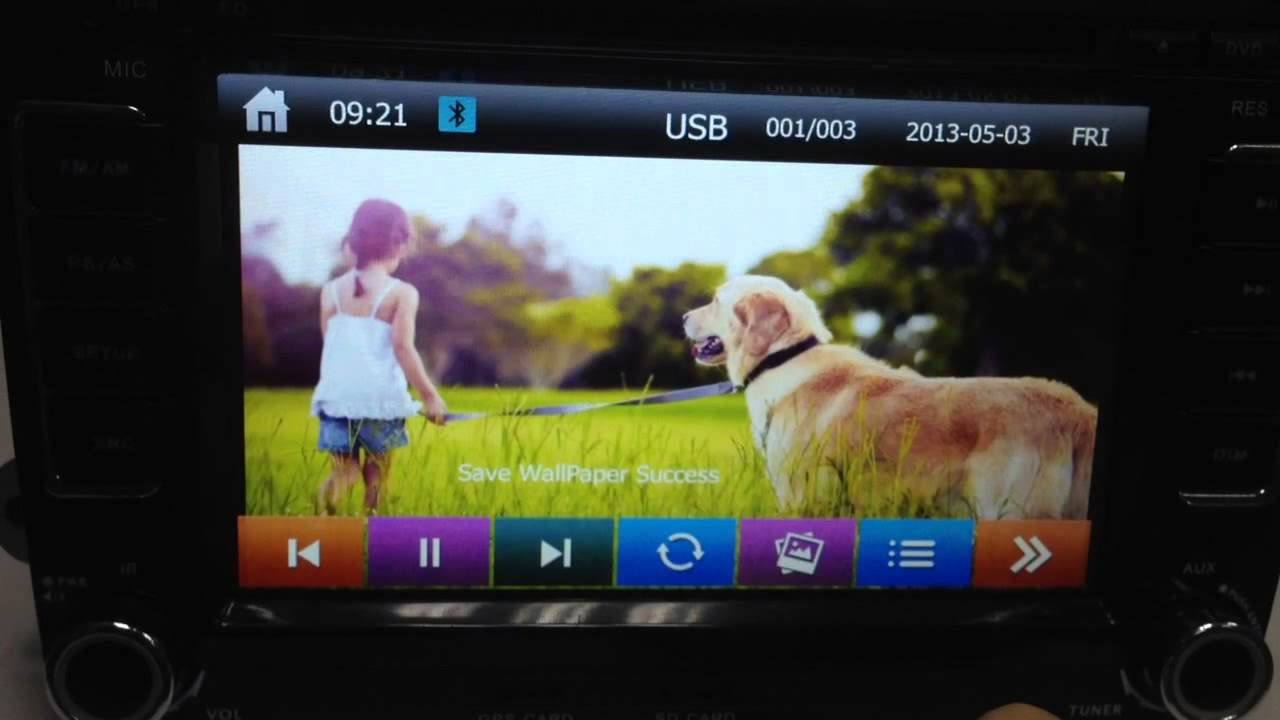 How to Set Wallpaper for your Car DVD Player GPS radio from SD or 1280x720