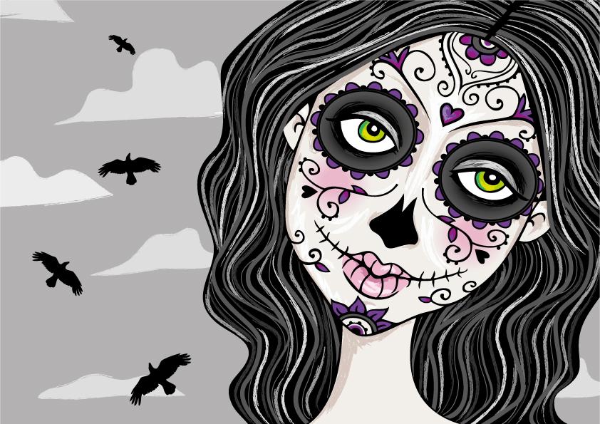 Tessie Girl Sugar Skull Girl 842x595