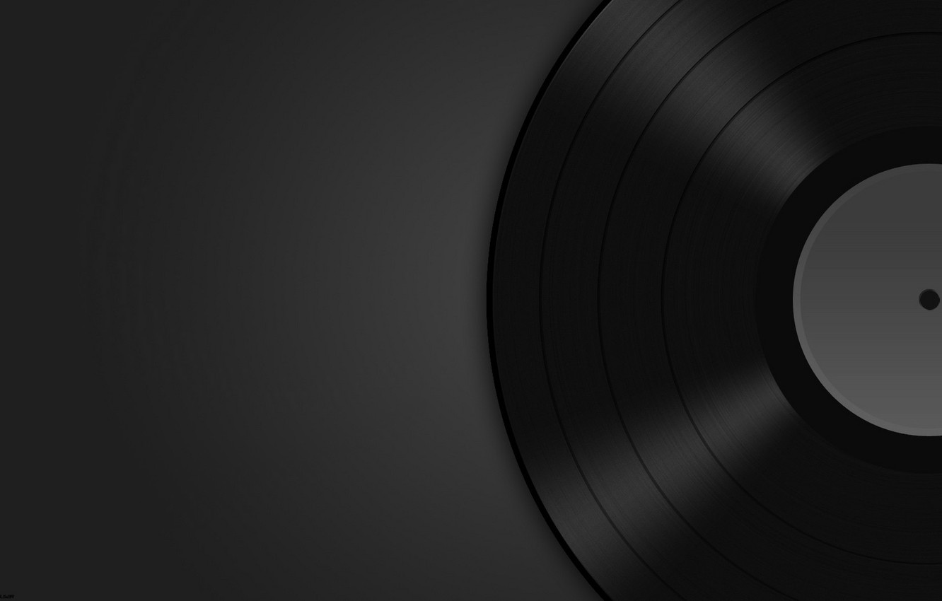 Wallpaper music background dark vinyl record images for 1332x850