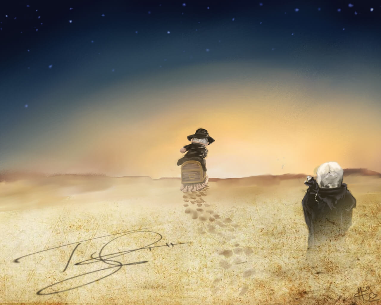 Terry Pratchett memorial wallpaper Dreams of Ego 1280x1024