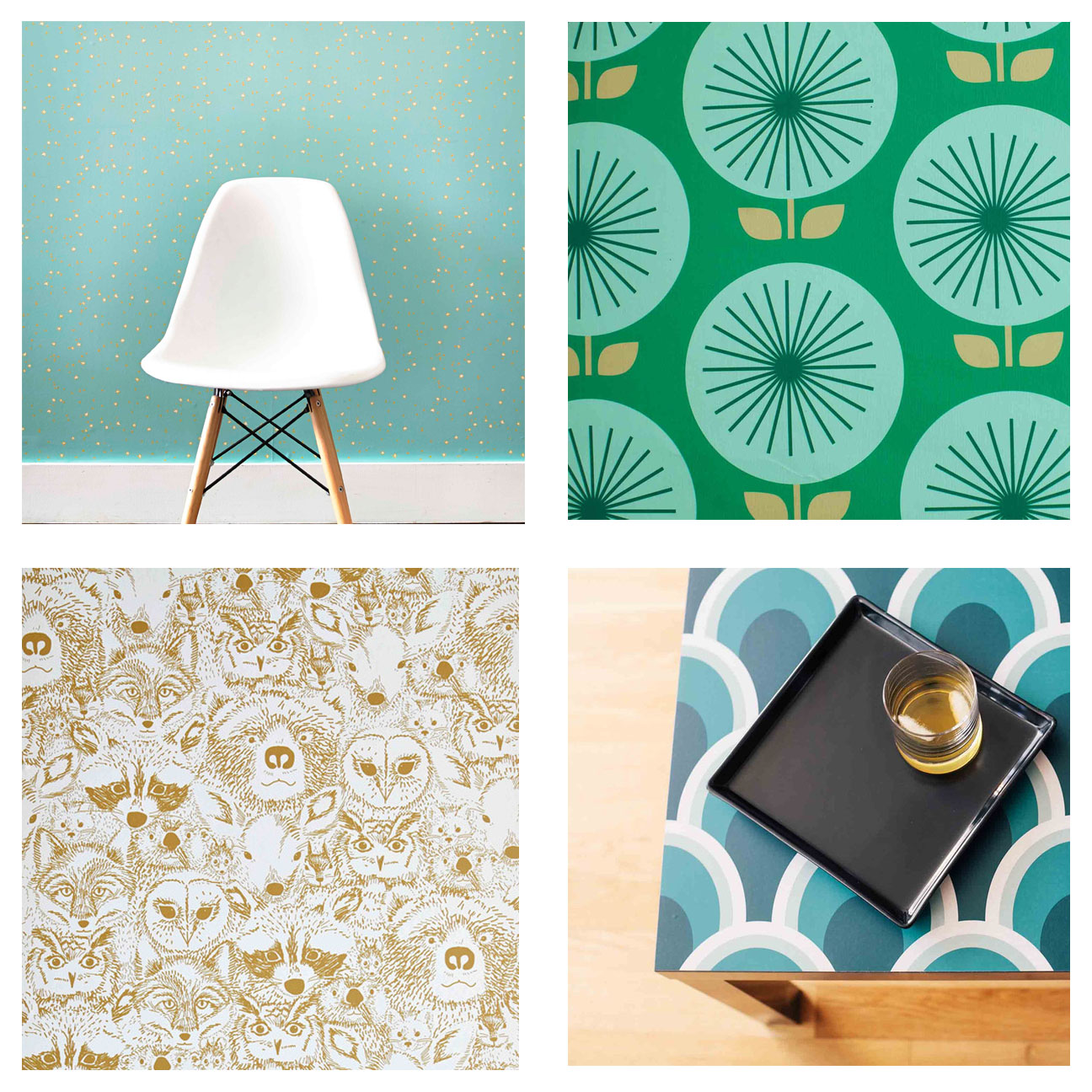 Chasing Paper Removable Wallpaper Star Bright top left Sunburst 1296x1296