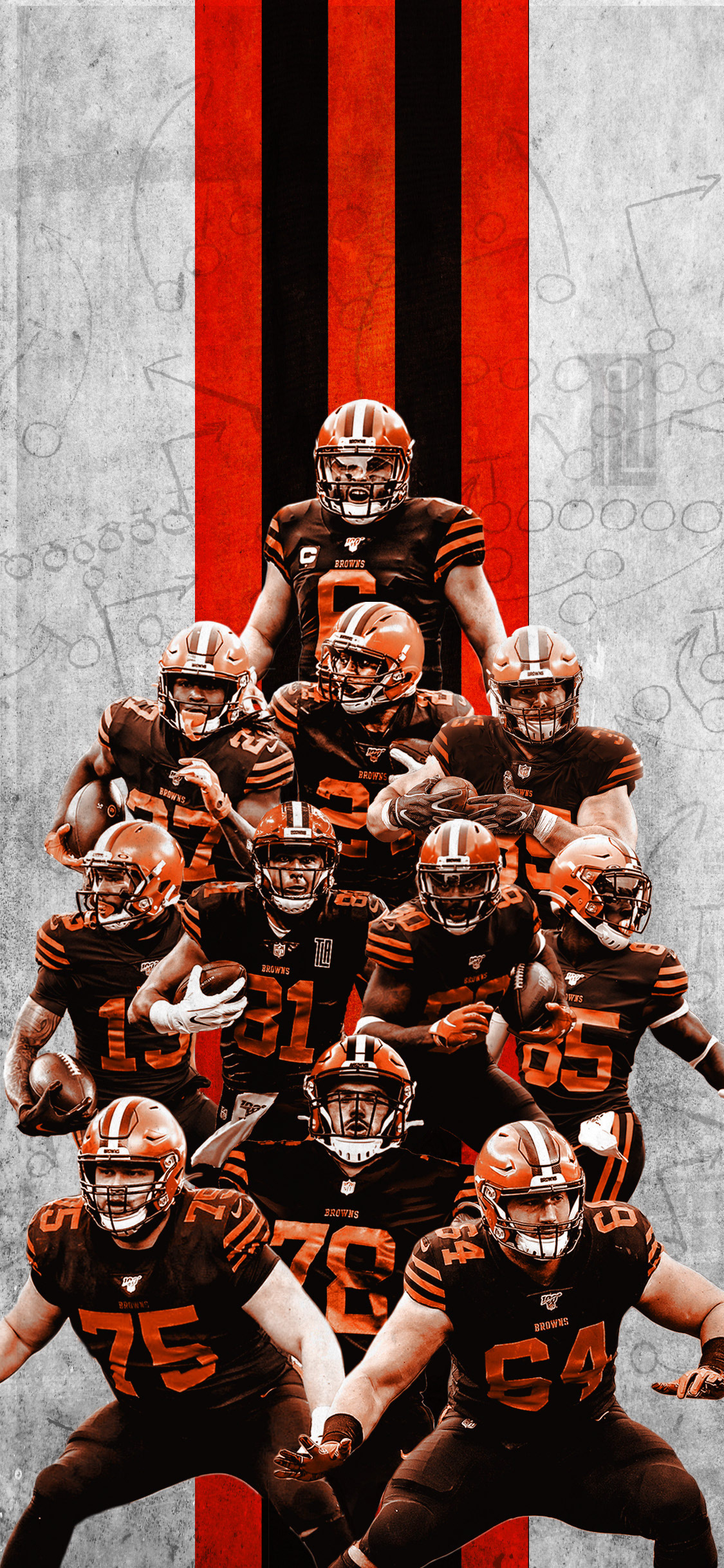 2020 Cleveland browns IPhone Wallpaper on Behance 1125x2436