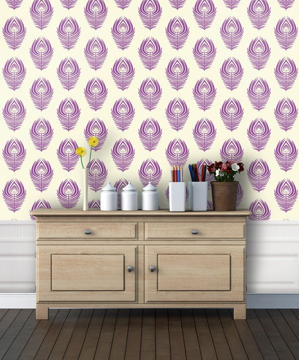 Look at this Orchid Peacock Adhesive Wallpaper on zulily today 600x721
