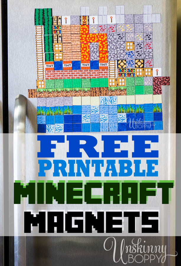 Minecraft Magnets Make your Own Printable 613x900