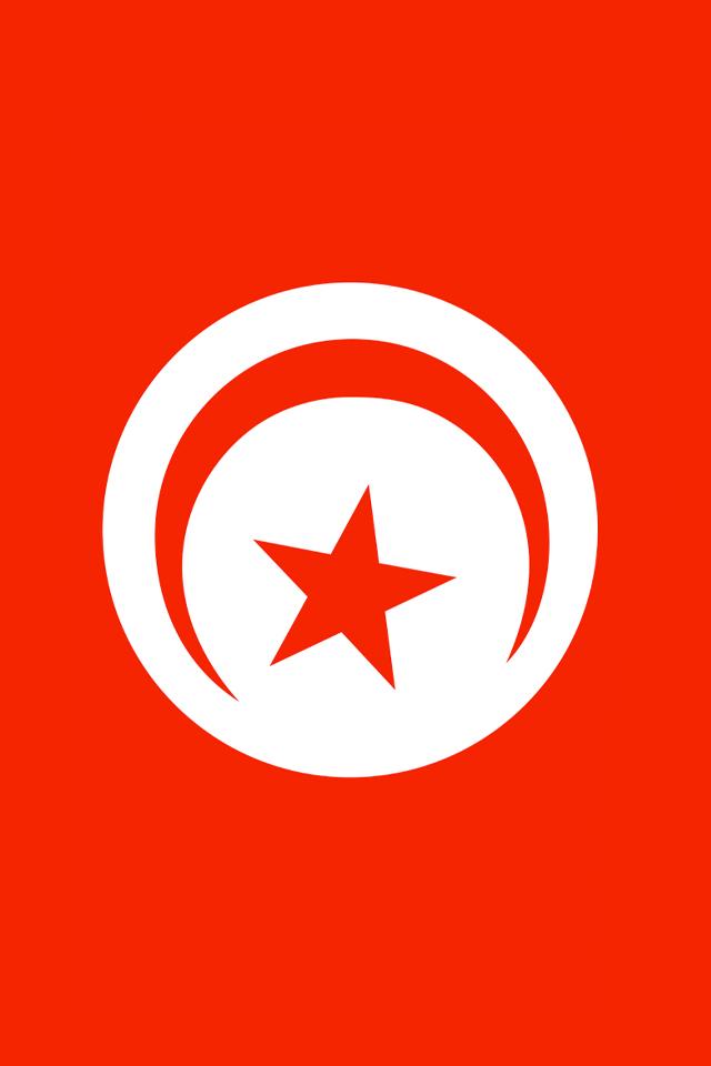Tunisia Flag iPhone Wallpaper HD 640x960