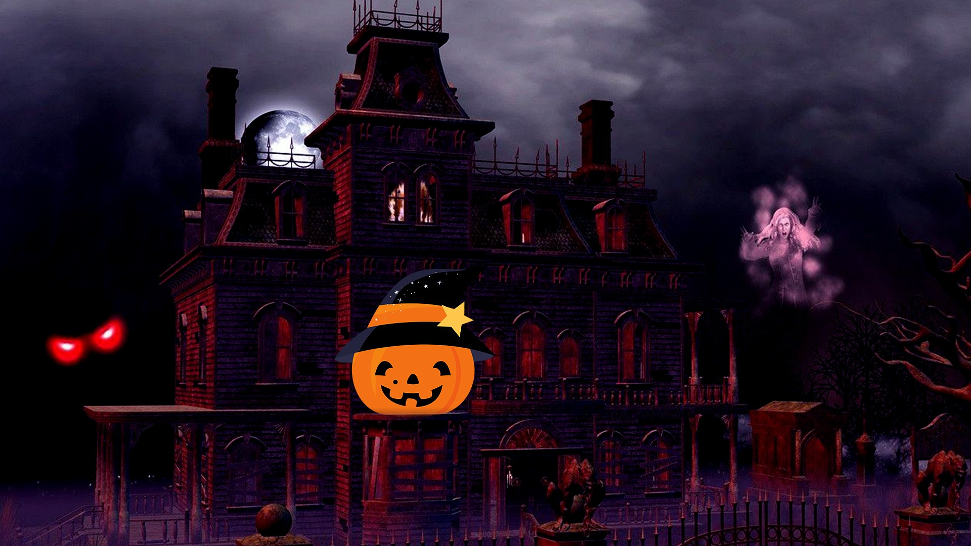 Cute Halloween Desktop HD Wallpaper 34534   Baltana 1920x1080