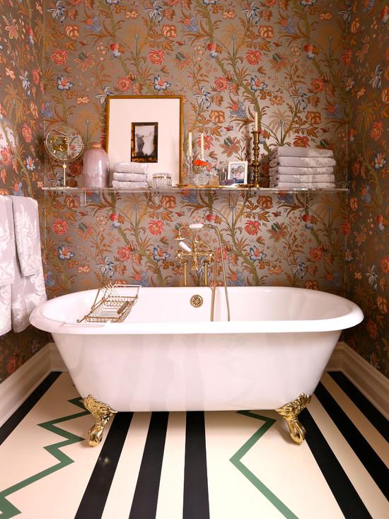 bathrooms   floral wallpaper metallic wallpaper floral metallic 550x734