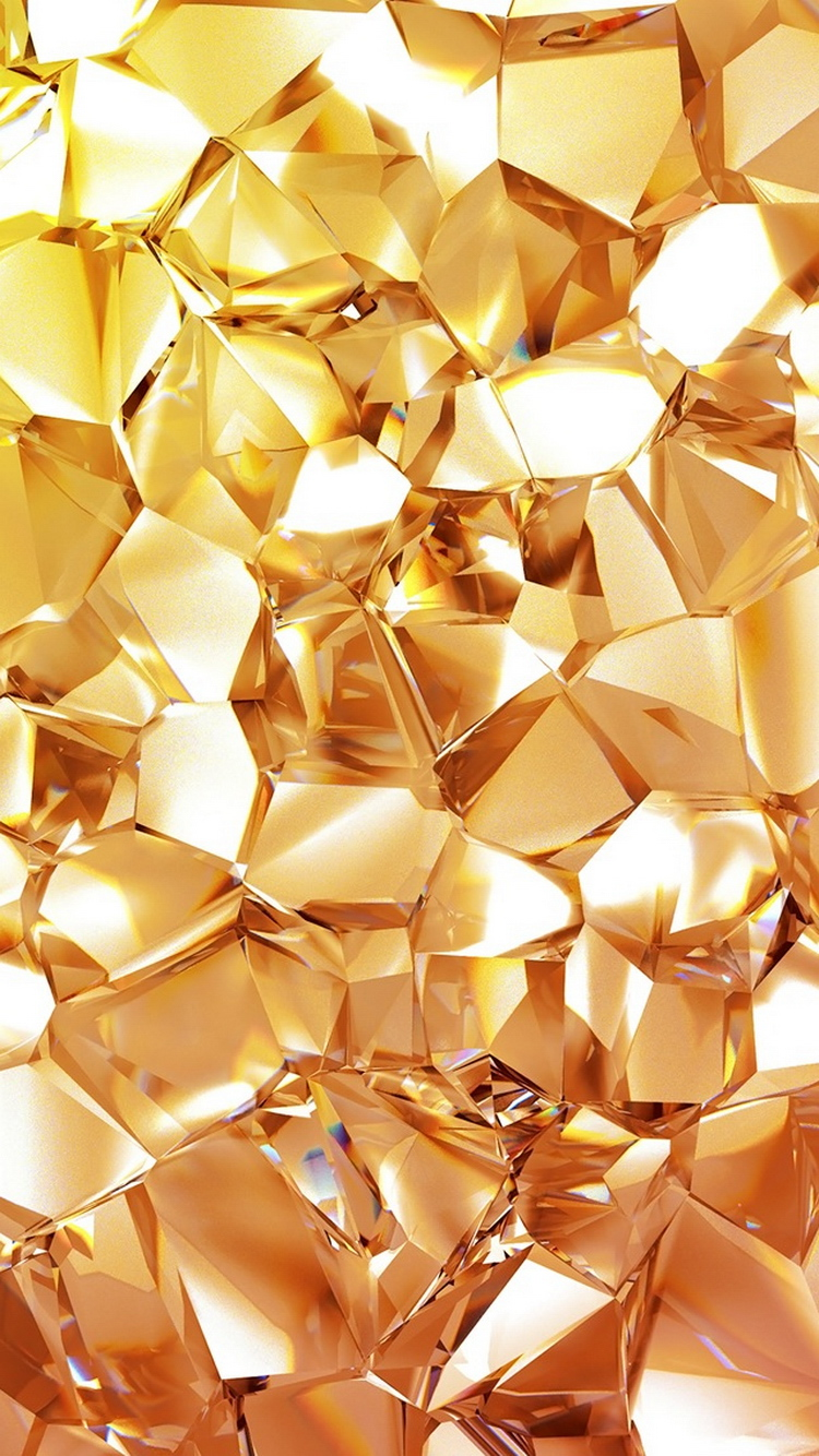 Gold Diamond iPhone 6 Wallpaper Download Gold iphone wallpaper 750x1334