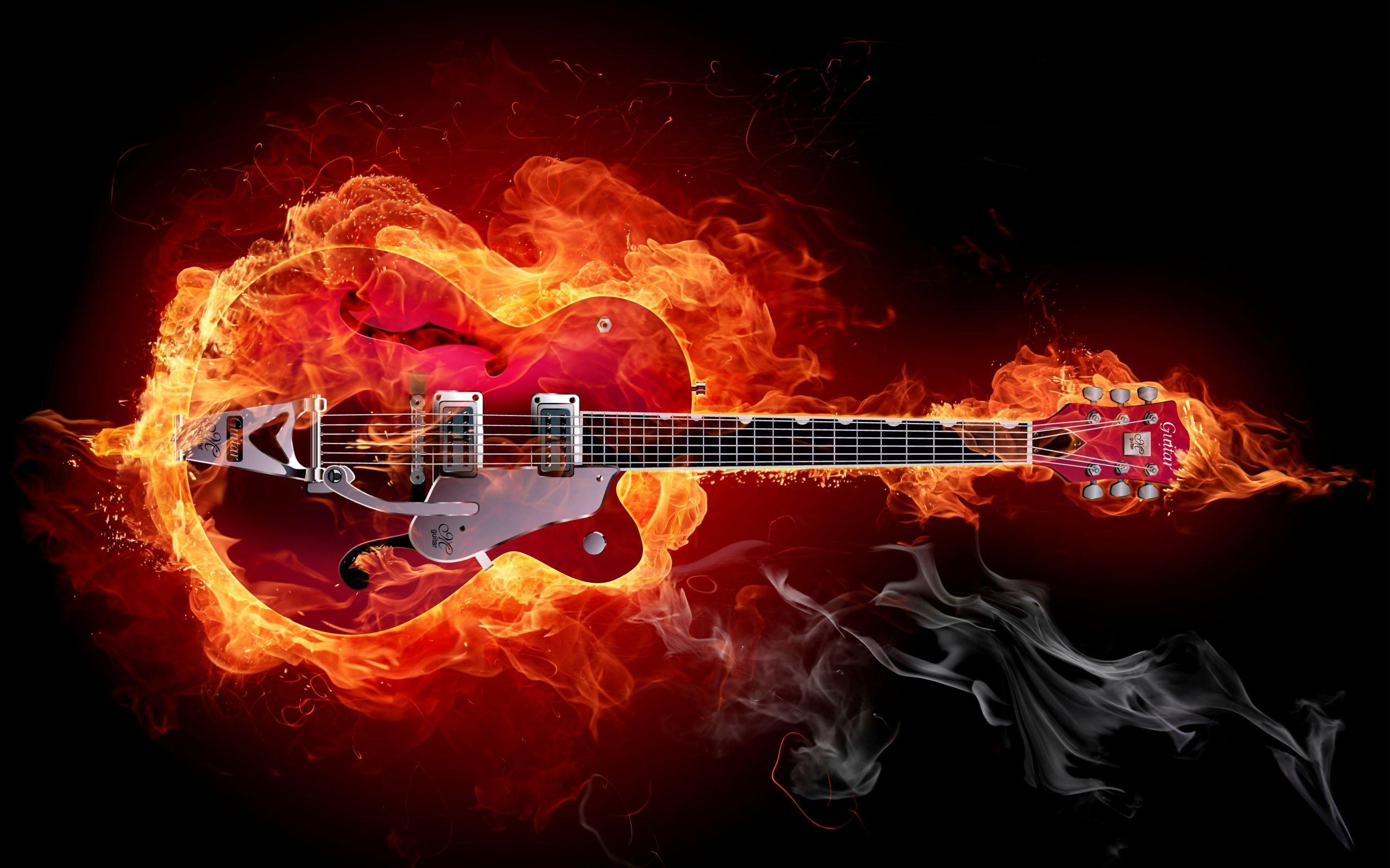 Fotos   Images Blue Music Neon Rock Guitar Wallpaper Wallchan 2560x1600