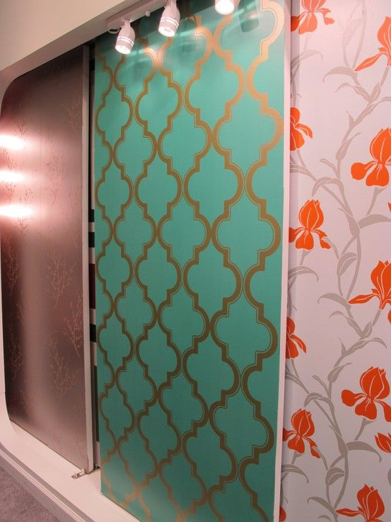 Removable Wallpaper Renter Friendly Love the teal and gold print 553x738