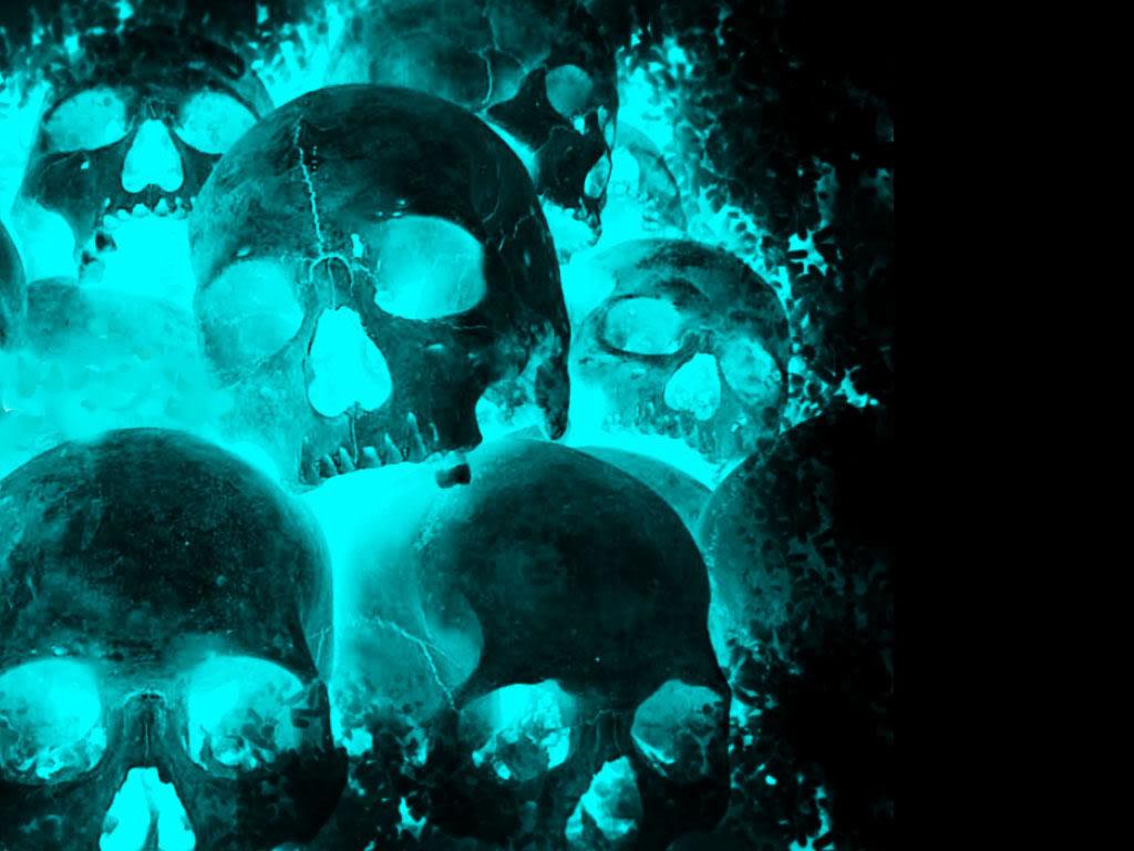 3D Animated Flaming Skull Wallpaper