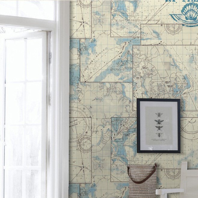 Desktop Wallpaper World Map: Antique Nautical Map Wallpaper