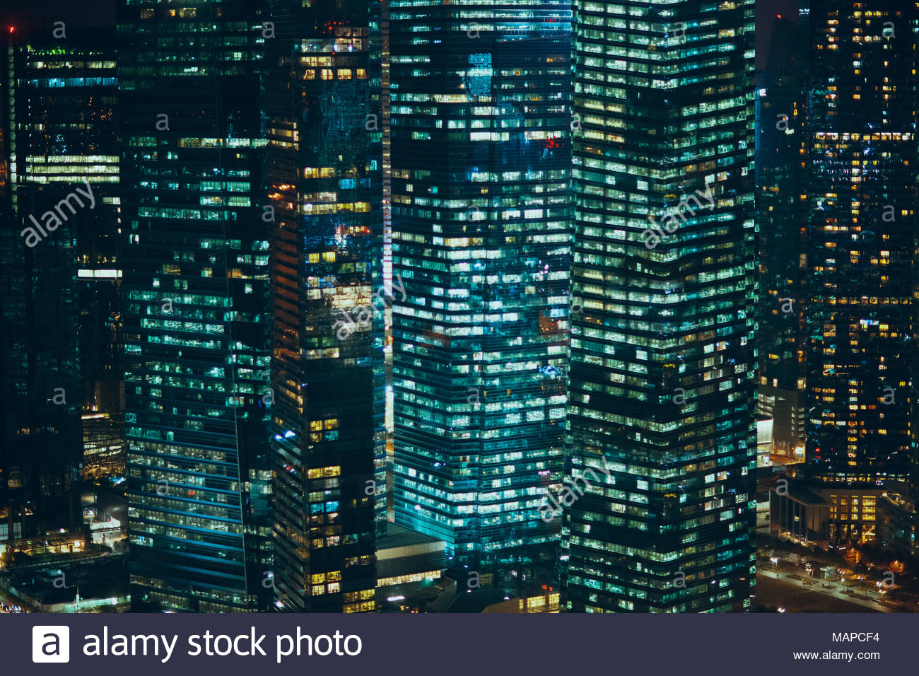 Abstract night skyscrapers background Stock Photo 178743016   Alamy 1300x956