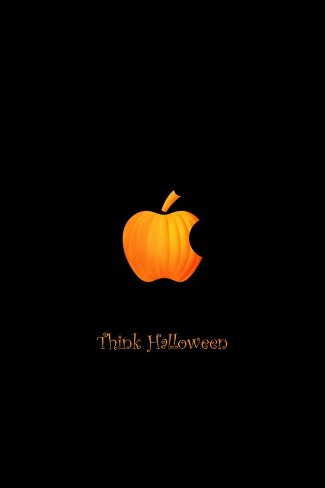 Apple Halloween Screensaver   iPad iPhone HD Wallpaper 640x960