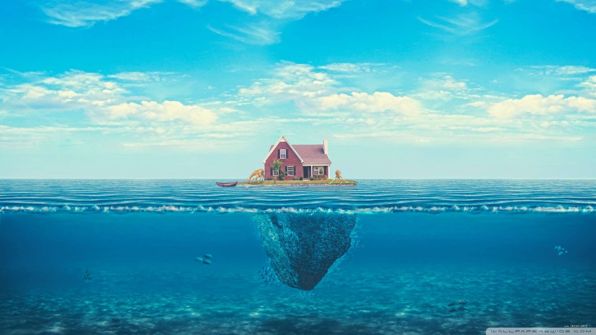 Wallpaper House On The Ocean Wallpaper 1080p HD Upload at December 1920x1080