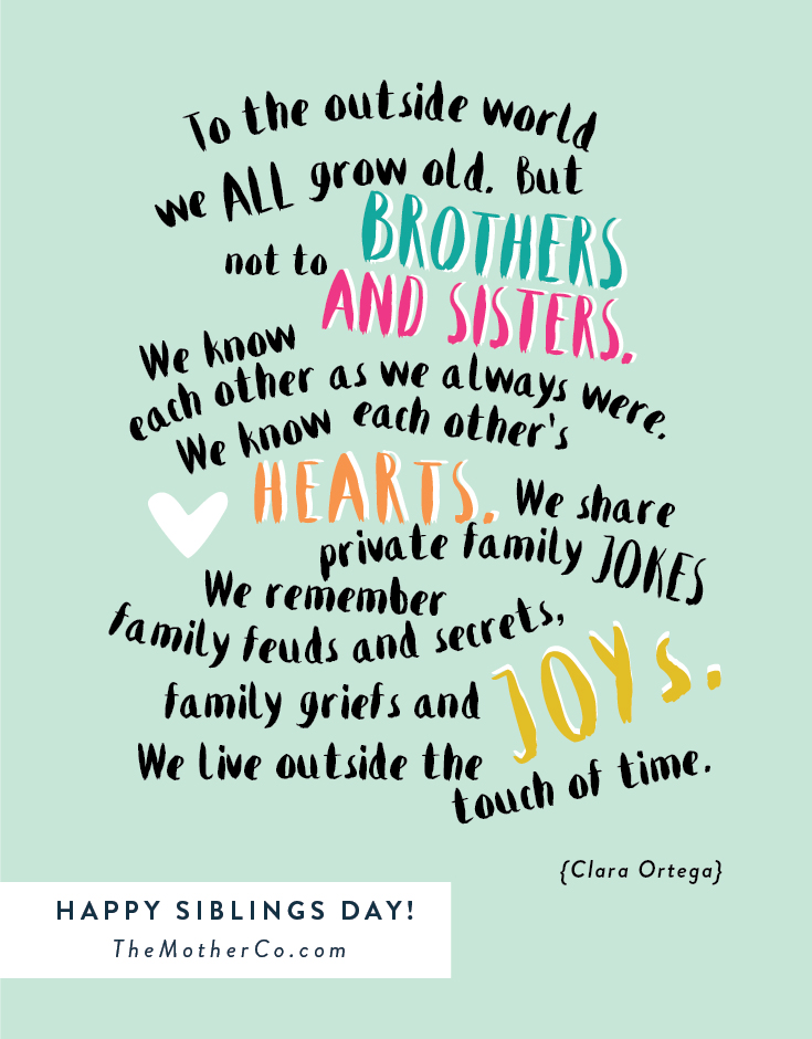 National Siblings Day Wallpapers 735x940