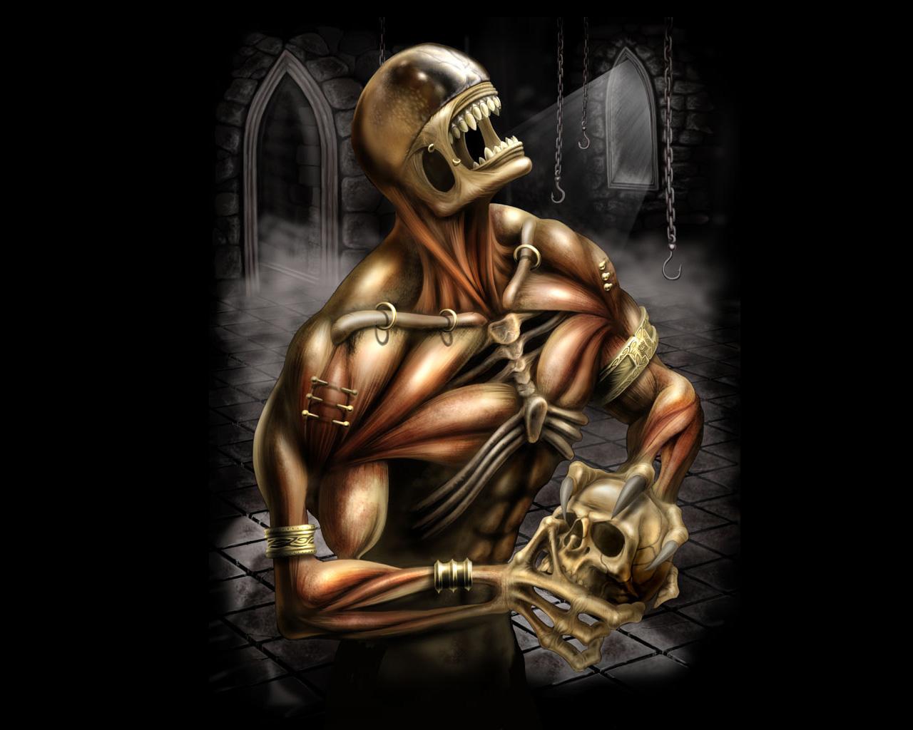 3d Animated Skeleton Skull wallpapers 1280x1024