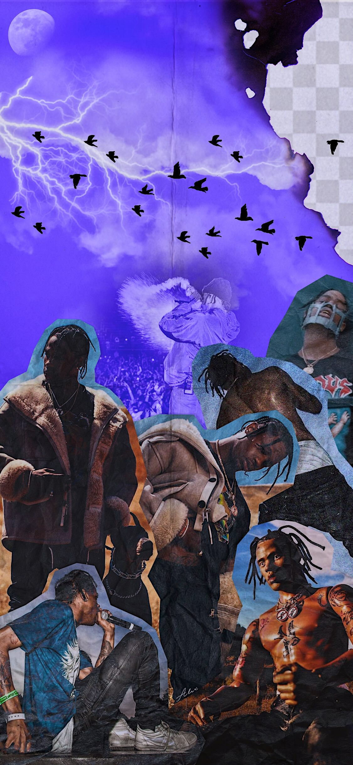 download art] Days Before Rodeo themed wallpaper travisscott 1125x2436