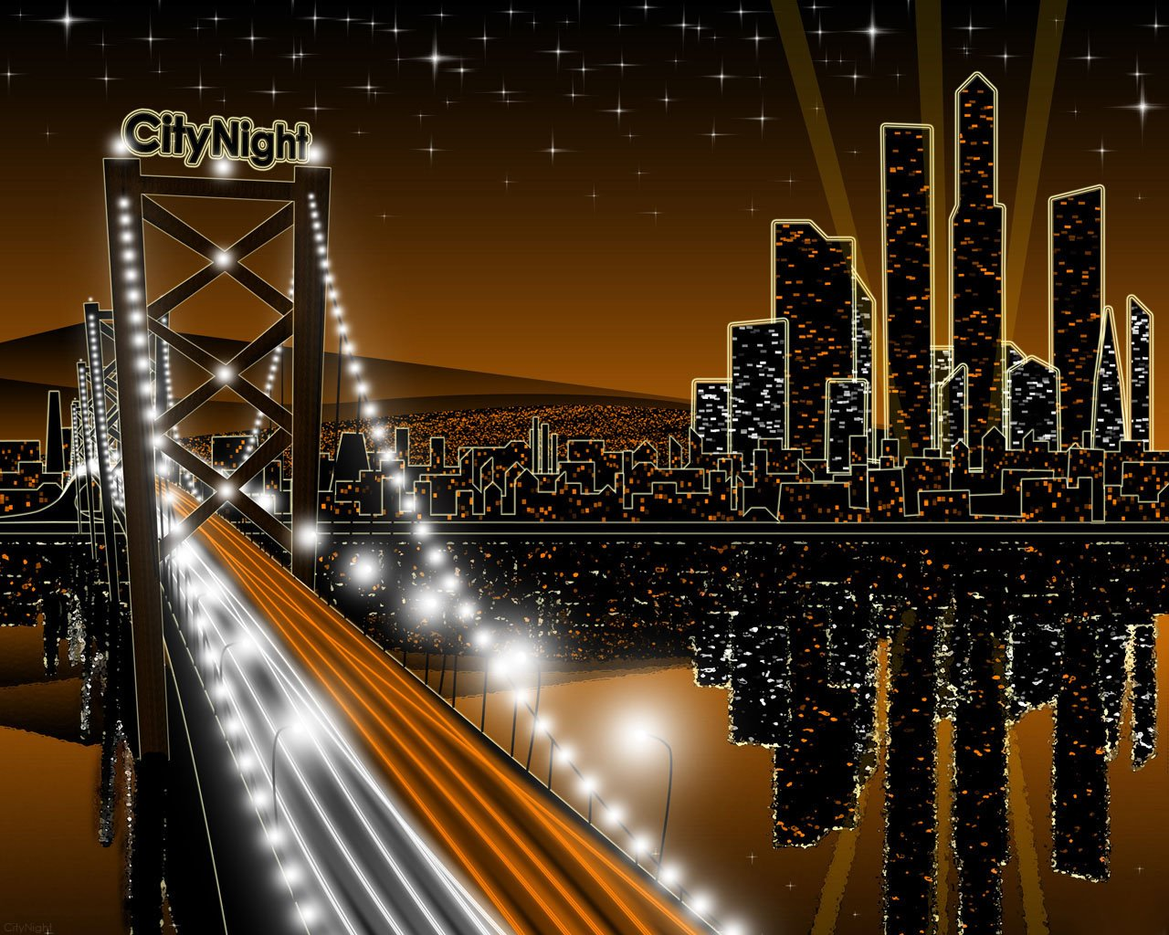 Night Time City Wallpaper Wallpapersafari