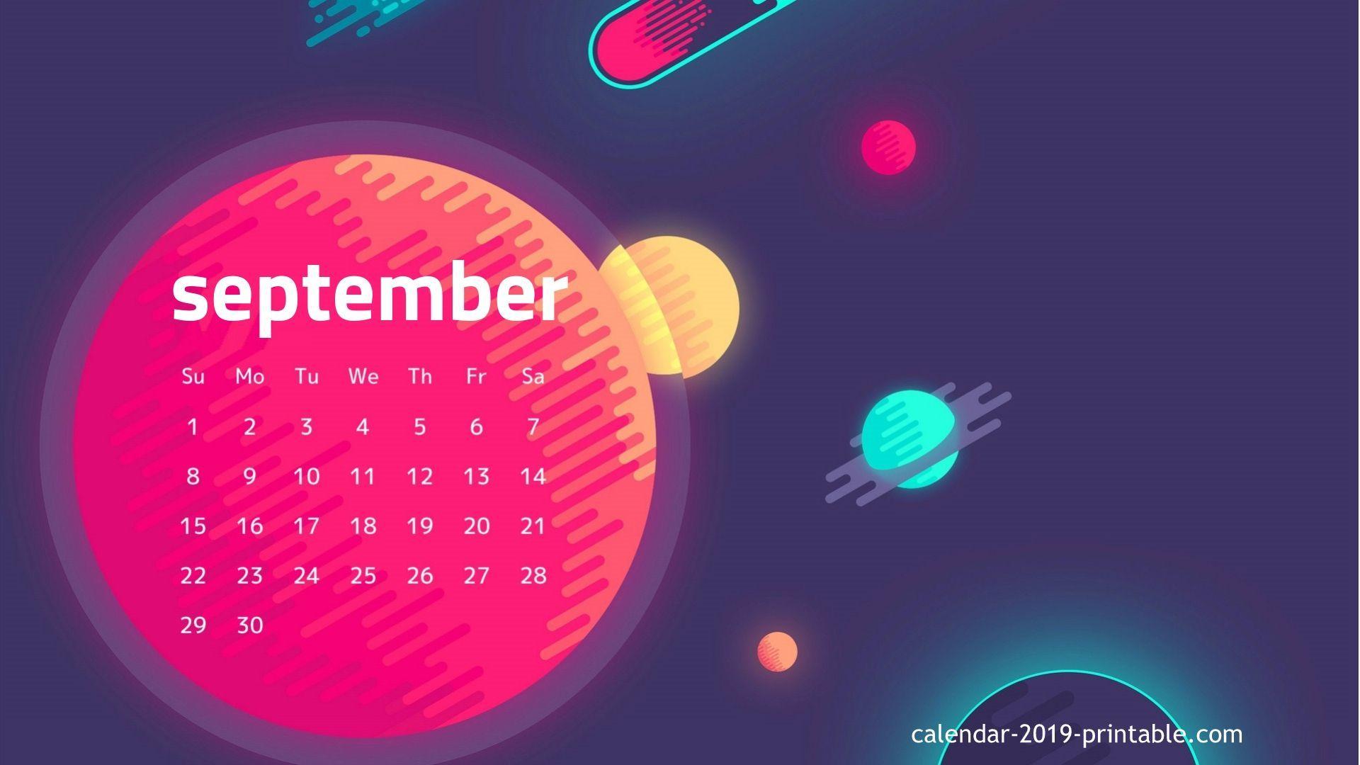 september 2019 hd wallpaper calendar 2019 Calendars in 2019 1920x1080