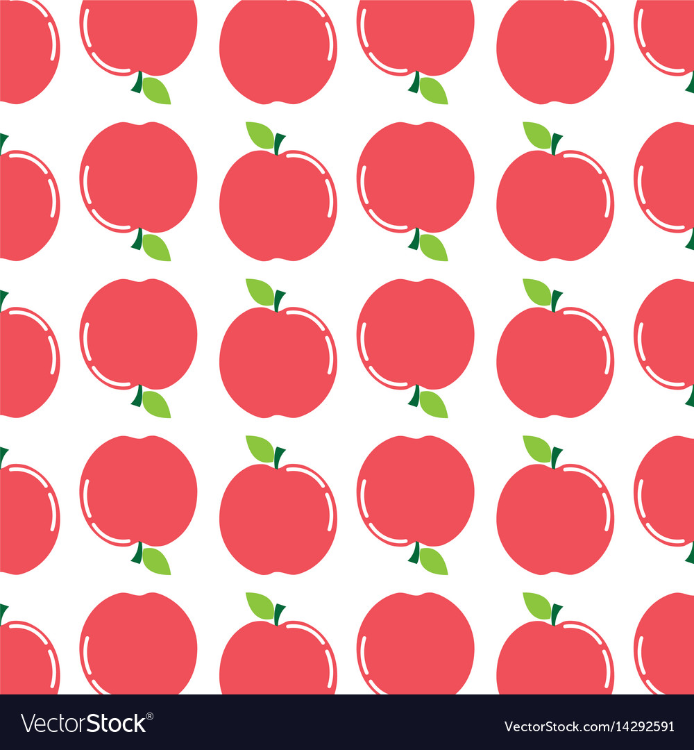 Delicious apple fruit taste background icon Vector Image 1000x1080