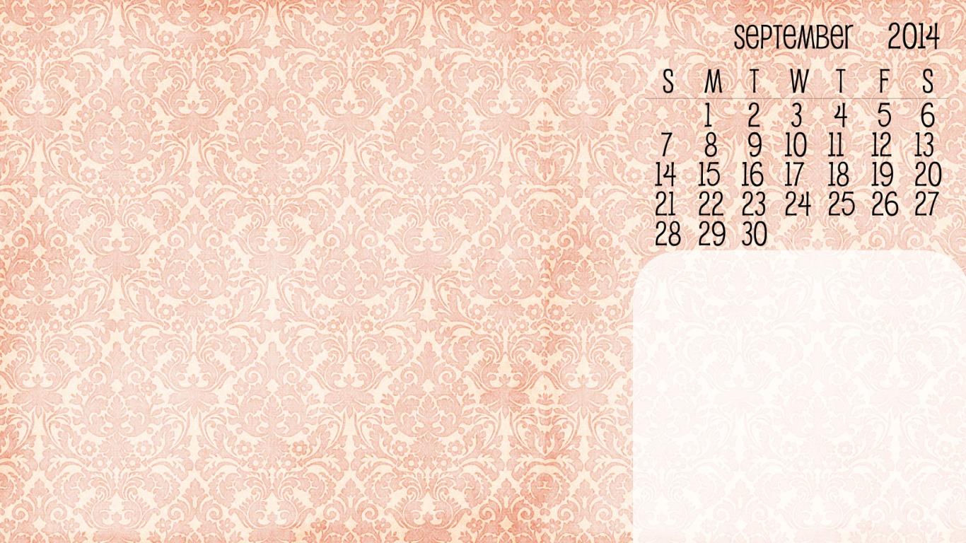 September 2014 desktop wallpaper   Bumblebreeblog 1366x768