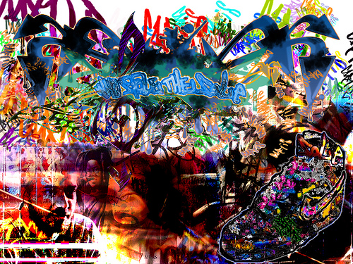 hip hop graffiti wallpapers Hip Hop BG Luda Arce Tags 500x375