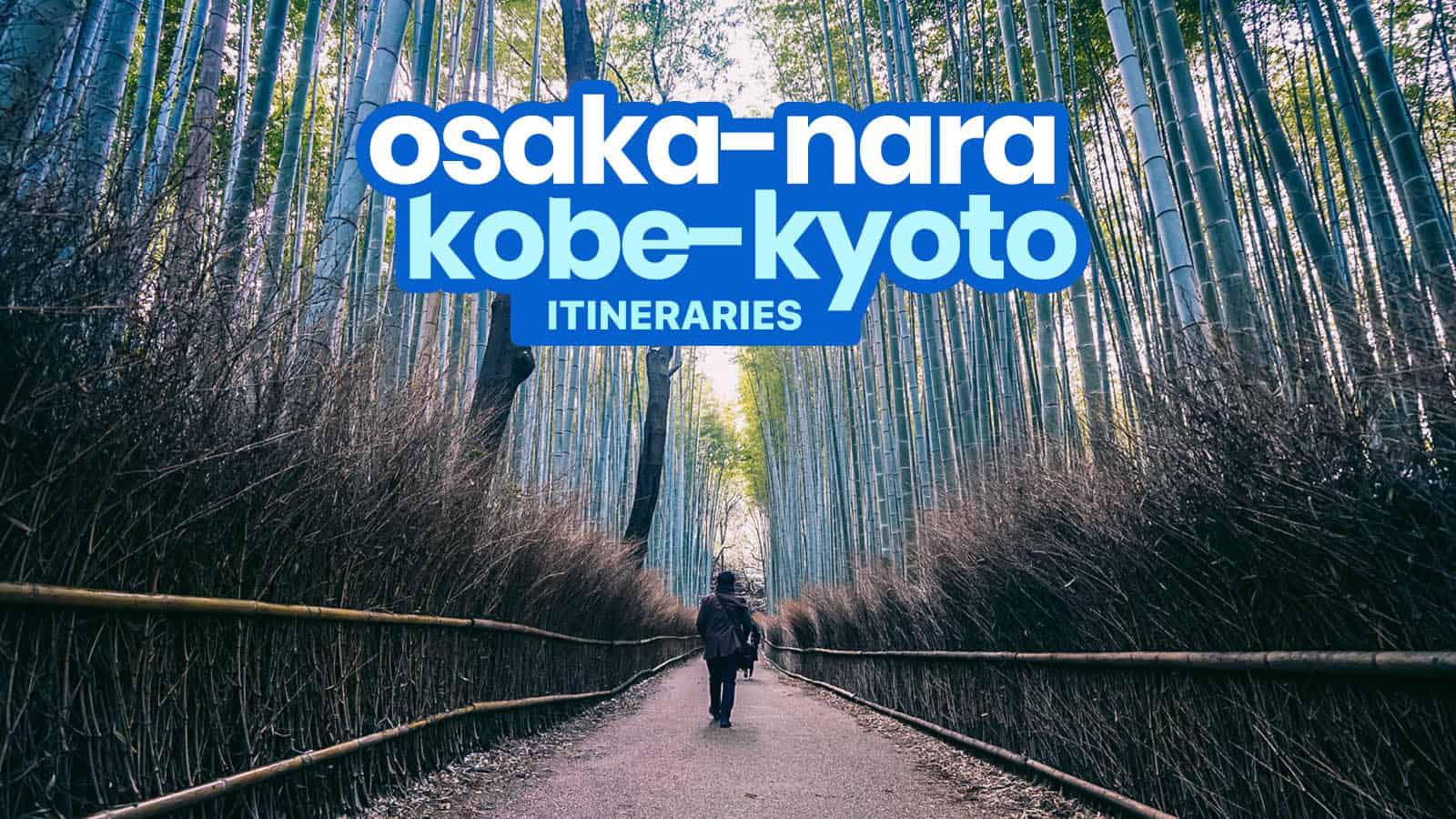 Sample OSAKA KYOTO NARA KOBE DIY Itinerary 4 5 6 Days The 1600x900