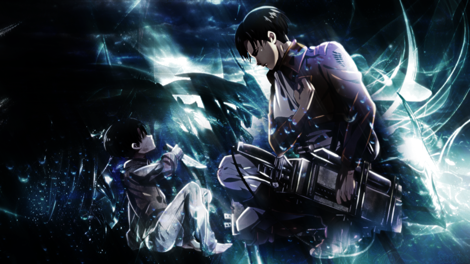 Levi And Mikase Ackerman Hd Wallpaper Full HD Wallpapers 1600x900