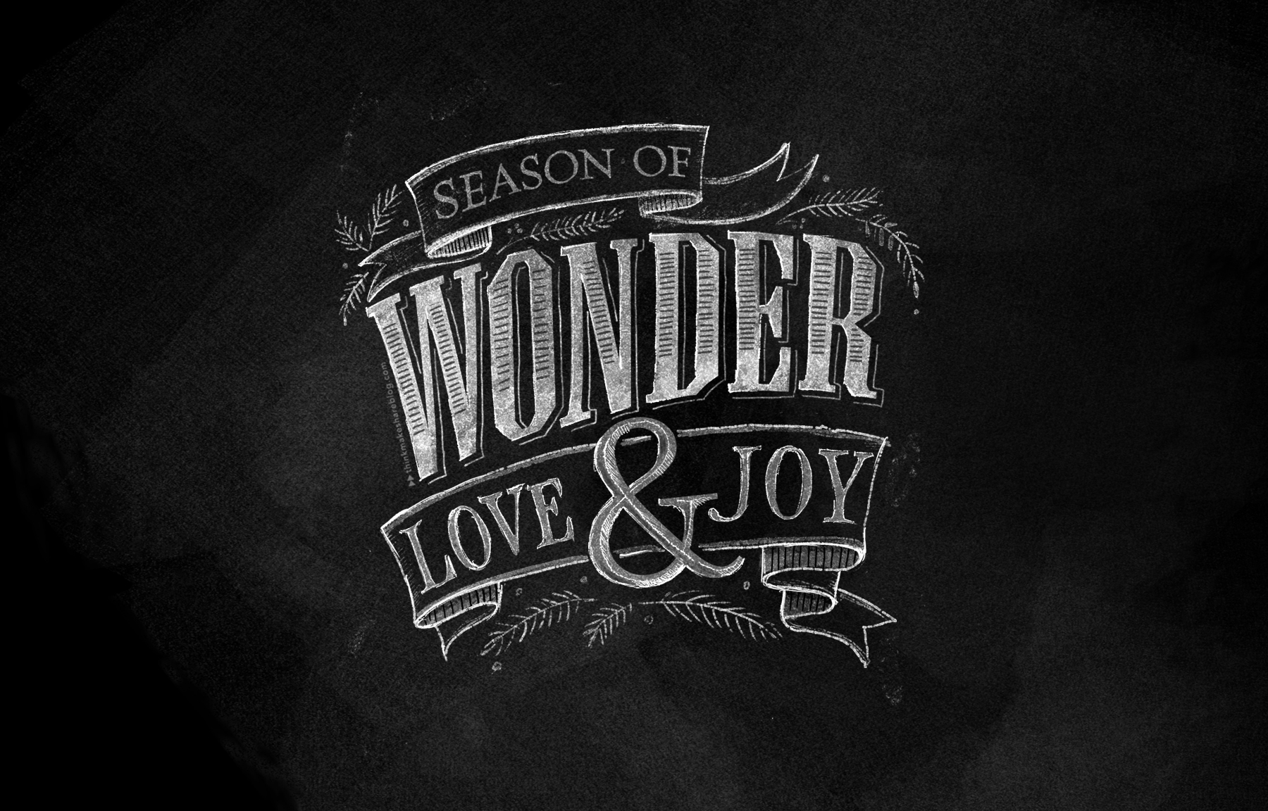 december chalkboard lettering desktop wallpaper   thinkmakeshareblog 1800x1152
