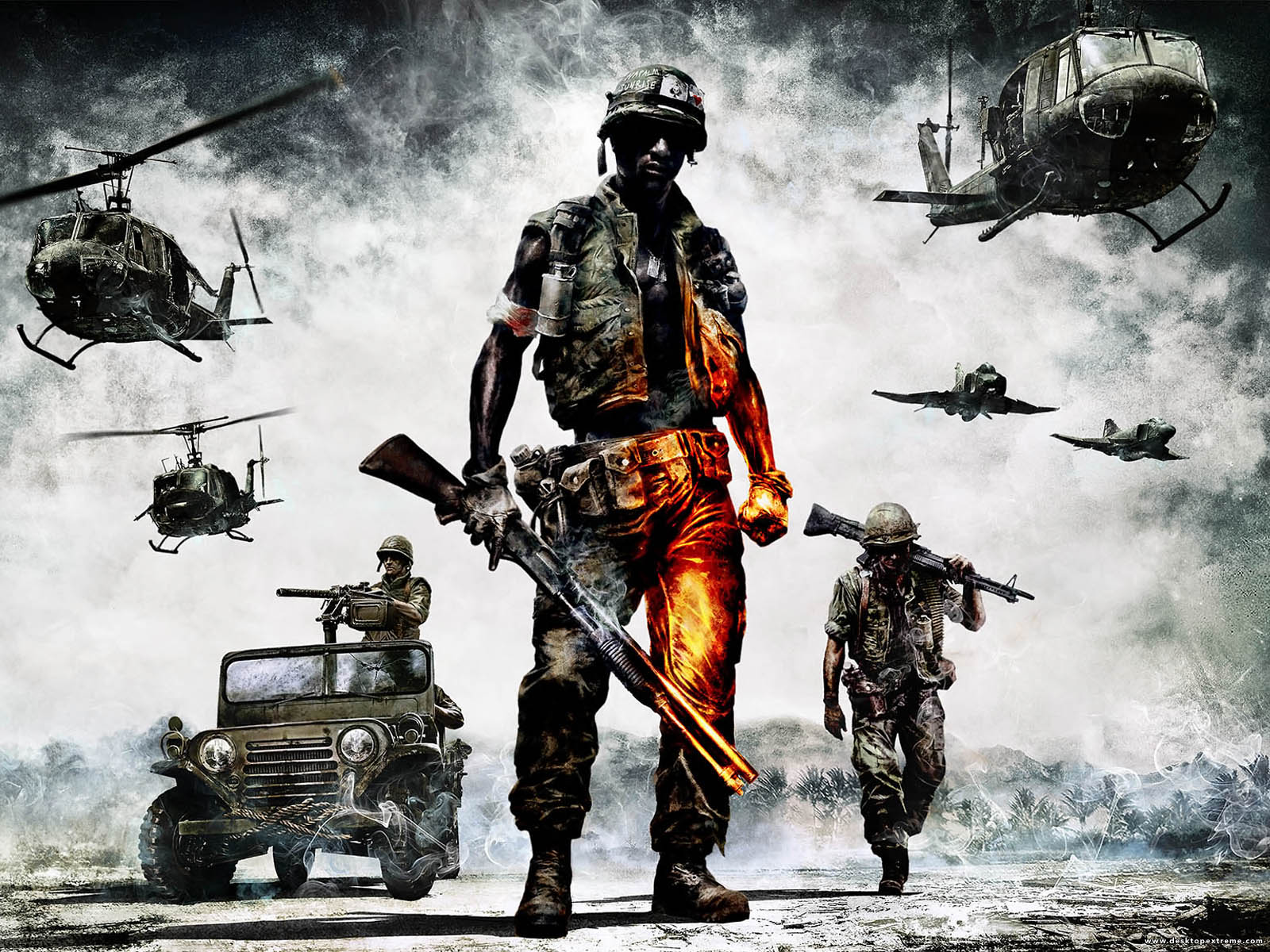 Battlefield Bad Company   Vietnam Wallpaper by DesktopExtremecom 1600x1200