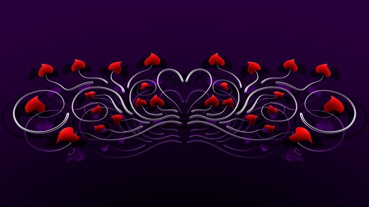 purple love background Wallpaper and Screen Savers Pinterest 736x414