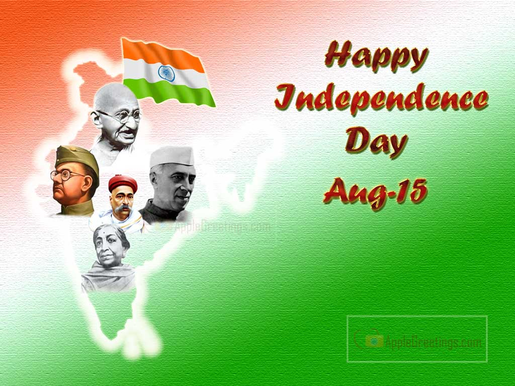 Independence Day Greetings With Freedom Fighter ID1218 1024x768