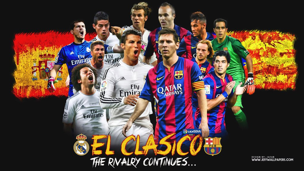 REAL MADRID VS FC BARCELONA WALLPAPERS by jafarjeef 1024x576