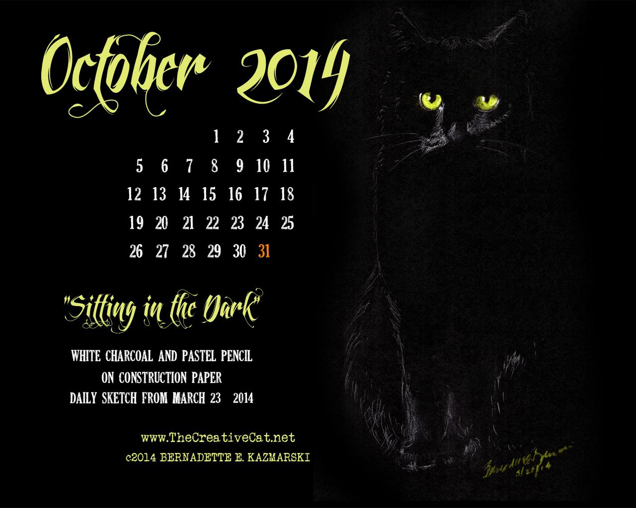October Desktop Calendar 1280x1024