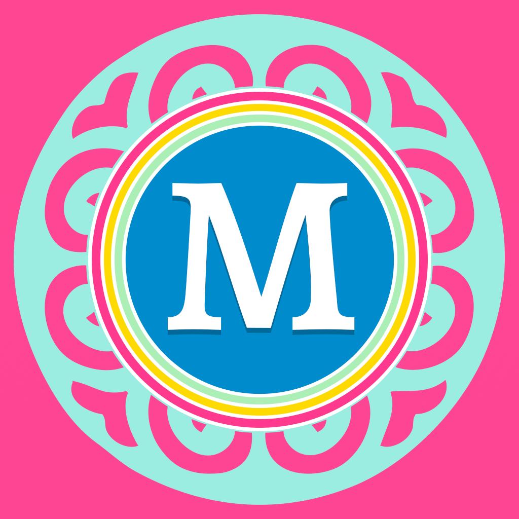 Monogram Maker Custom DIY Designer Wallpaper Background Font Editor 1024x1024