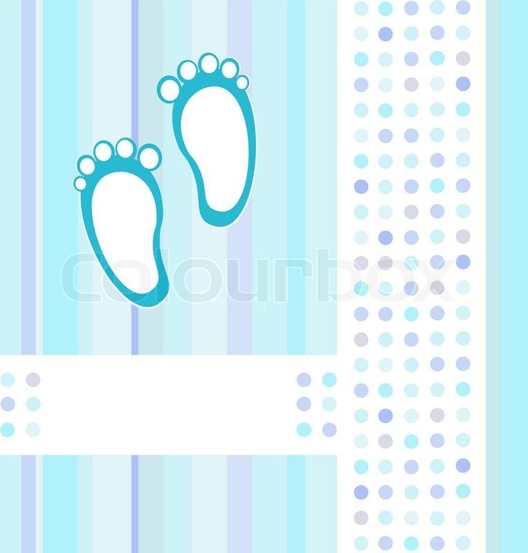 Baby Mitteilung blaue Karte Hintergrundbild Vektor Illustration Stock 763x800