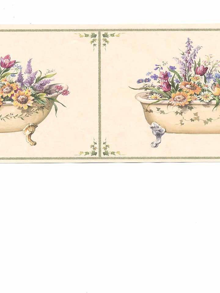 5505742 Waverly Wallpaper Border Family Style Bath Tub Bathroom French 720x960