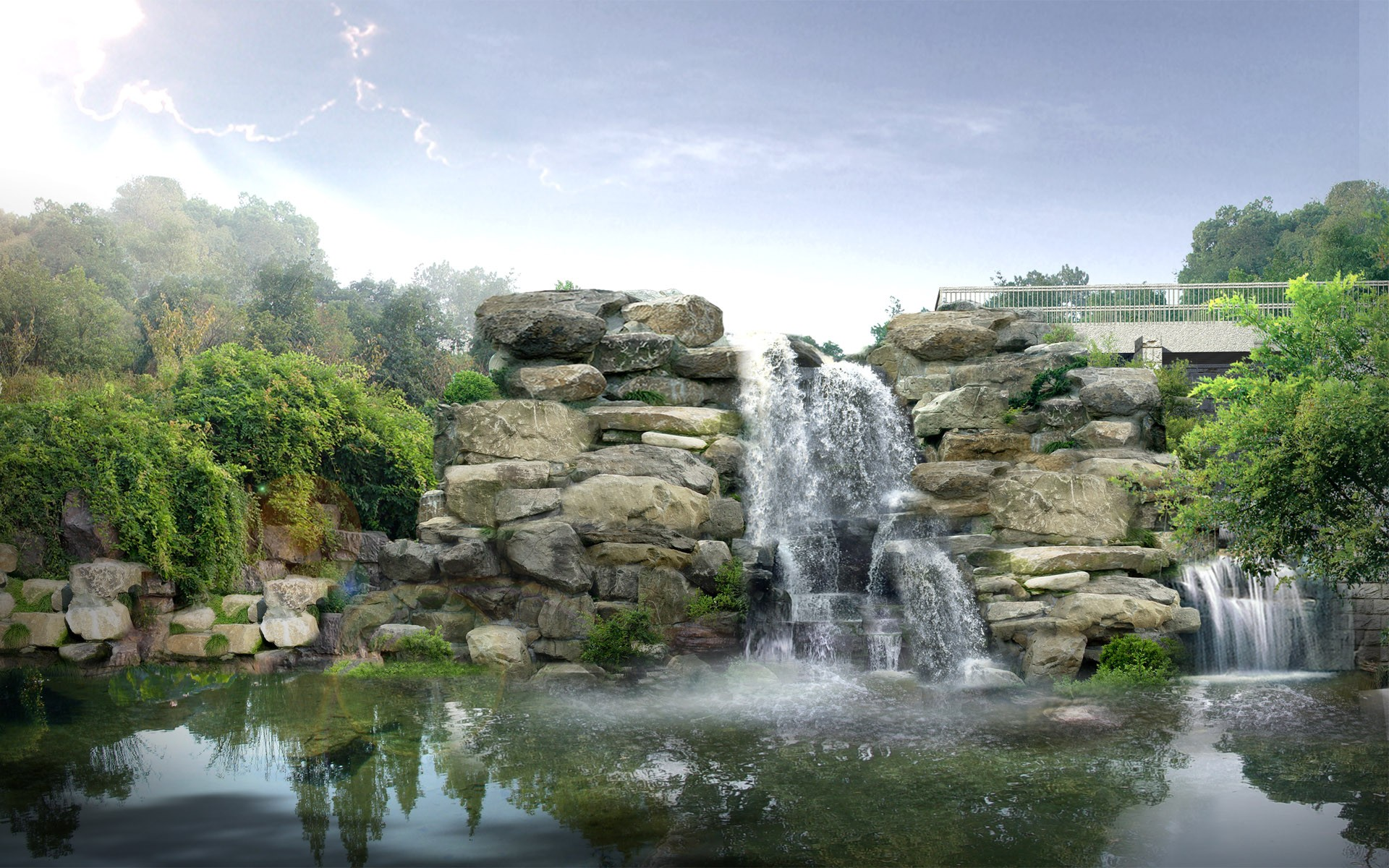 free desktop wallpaper waterfalls which is under the waterfall 1920x1200